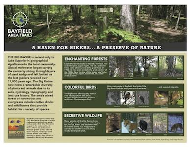 Bayfield Big Ravine Preserve Sign