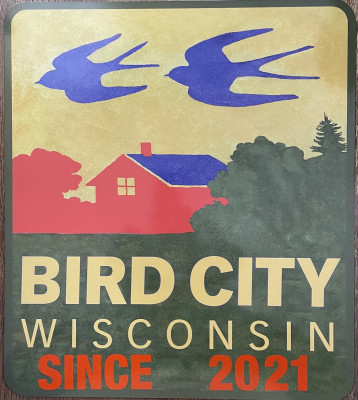 Bird City Wisconsin Street Sign